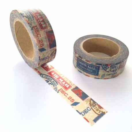 masking tape air mail Christmas washi tape air poste noël xmas stamp