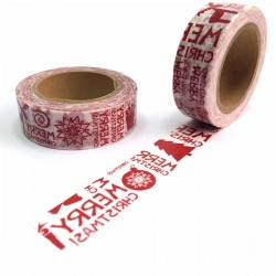 masking tape merry christmas red washi tape noël xmas rouge graphique