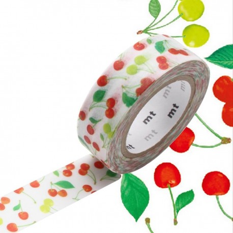 masking tape cerises rouge washi tape cherries red