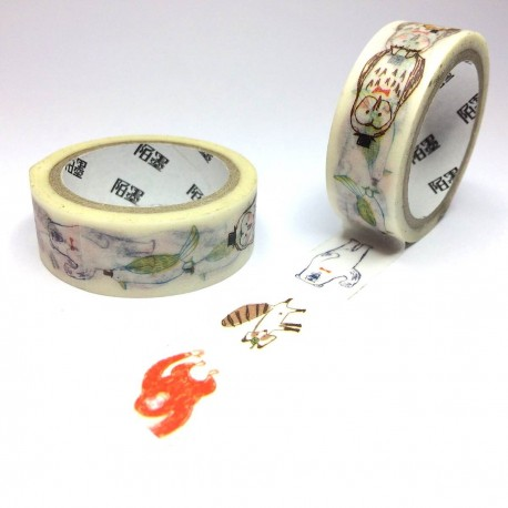 masking tape illustration Mr ours & Co washi tape ber & animals
