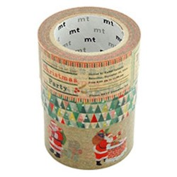 Masking tape MT Noël lot de 3