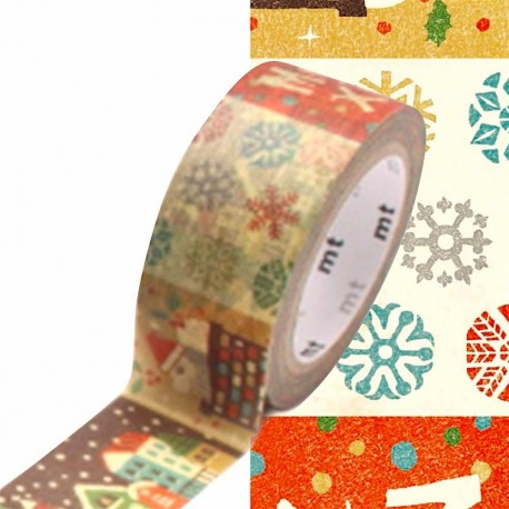 masking tape illustration dessin naïf washi tape christmas draw