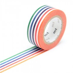 masking tape kids lignes multicolores washi tape strip