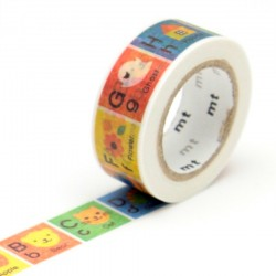 Masking tape kids alphabet A-M