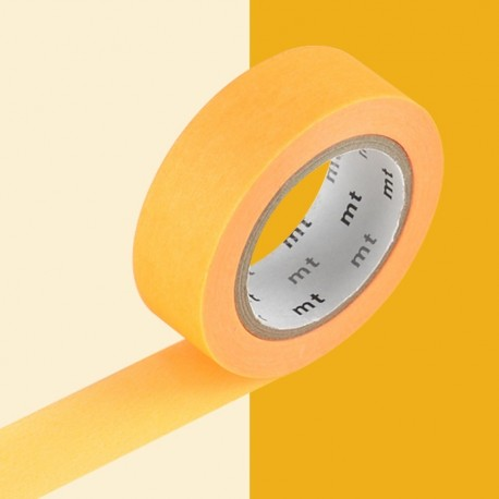 masking tape showing orange washi tape orange fluo