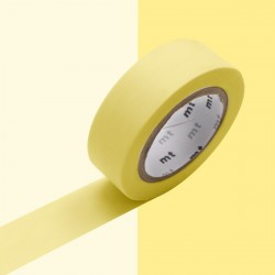 Masking tape uni pastel yellow washi tape jaune pale