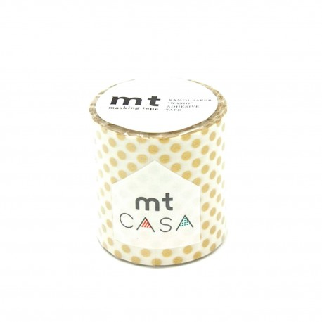 masking tape casa dots gold washi tape large petit pois or déco 5 cm
