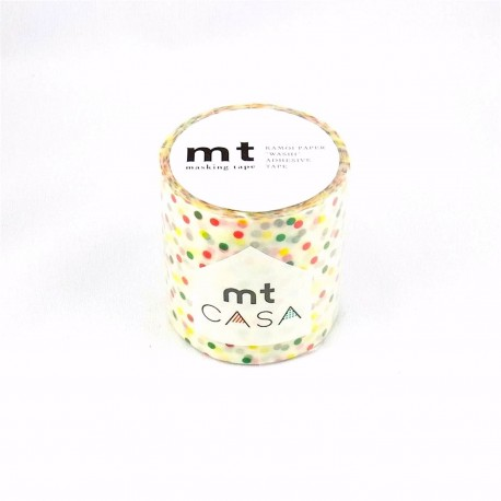 masking tape casa drop colors washi tape déco pois couleurs  5 cm