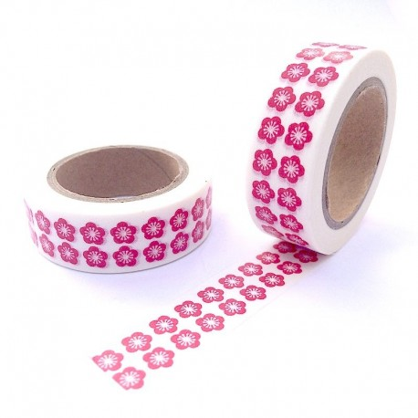 Masking tape fleur de cerisier rouge washi tape cherry flower