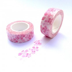 Masking tape fleur de prunus rose washi tape spring flower pink