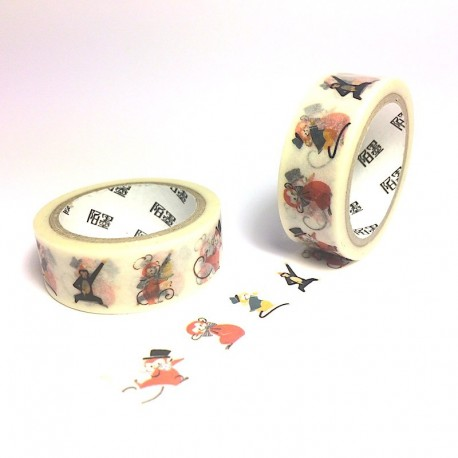 Masking tape troupe de singes washi tape monkey parade