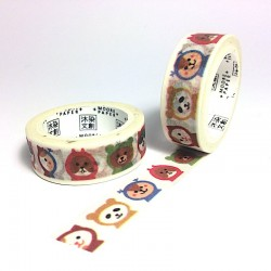 Masking tape animeaux kawaï washi tape animal panda chat ours écureuil