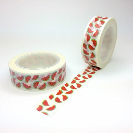 Masking tape pastèque washi tape watermelon red green