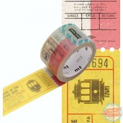 Mt motif tickets prédécoupé washi tape passe tiret