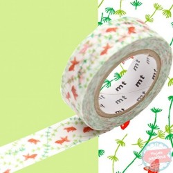 masking tape poissons rouge washi tape goldfishs red