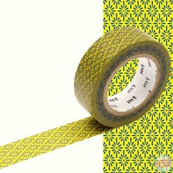 masking tape hanabishi kick bleu jaune washi tape classic japan yellow